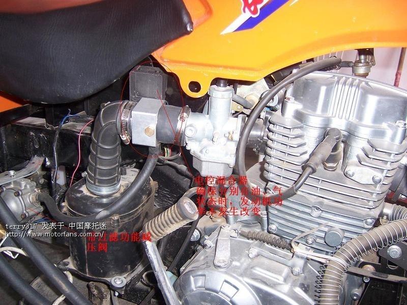 可适用于150 175 200 250各种型号的三轮摩托车,该系统与原车的油路