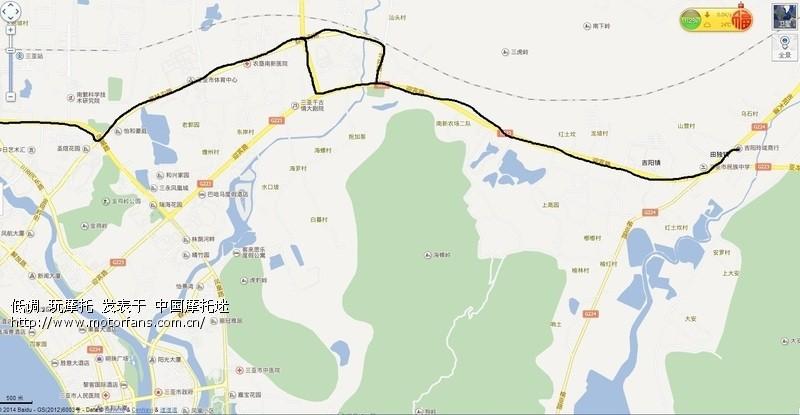 三亚湾路口:g225从天涯海角方向过来与机场路交叉口右转