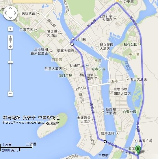 海南岛环游路线图 禁摩区域 详细图解