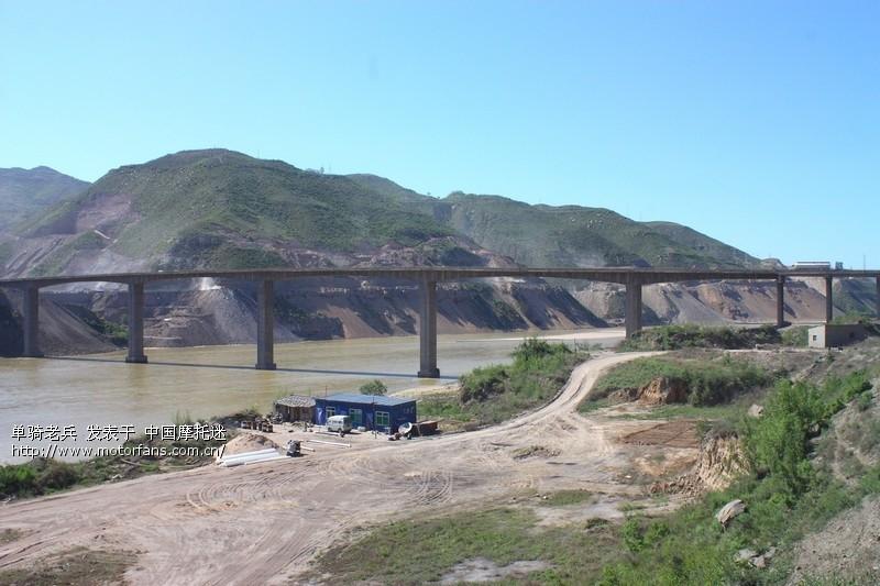 可以看到陕西的沿黄公路
