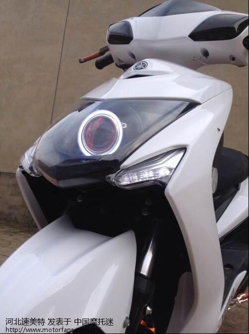 摩托车前大灯 改装双光透镜