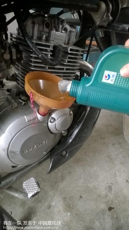 gsx125换机油,滤芯全过程(图)-济南铃木-摩托车论坛