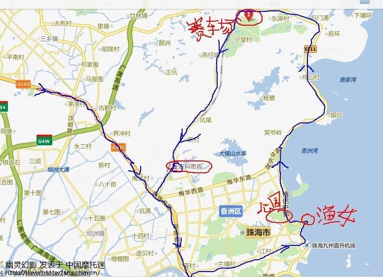 明天,10月4日从小榄到珠海游玩,求珠海禁摩区域地图