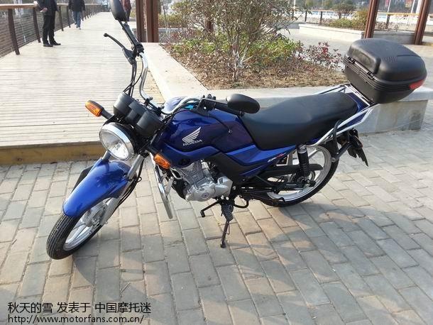 摩托车论坛 五羊本田-骑式车讨论专区 五羊本田-锋朗125 03 刚入手