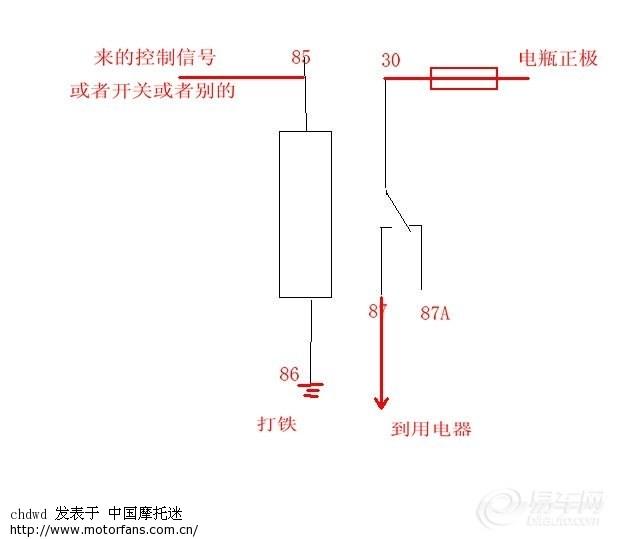 标题: 只用2个5脚继电器的双闪(转向优先)没有二极管没有三极管 简单