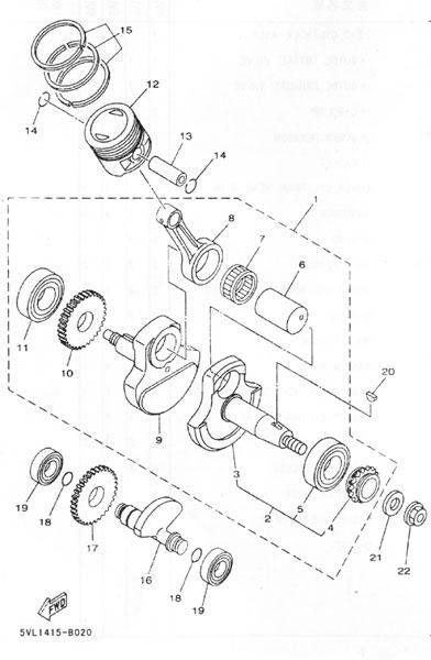 雅马哈-天剑-ybr125详细结构图片