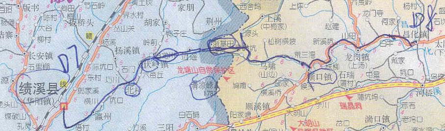 我走的千岛湖地图,还有和atmos在安徽走的路线.