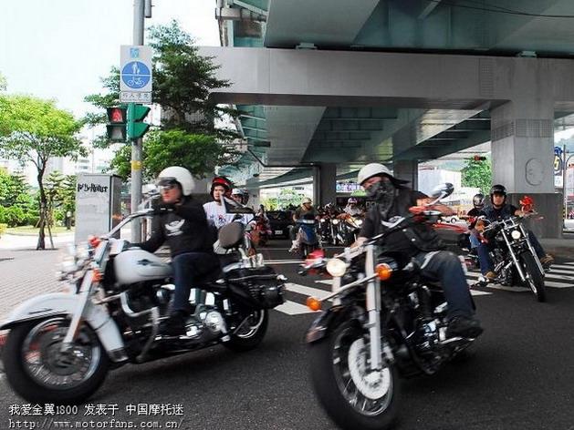 壮观 台湾重型机车迎亲图片