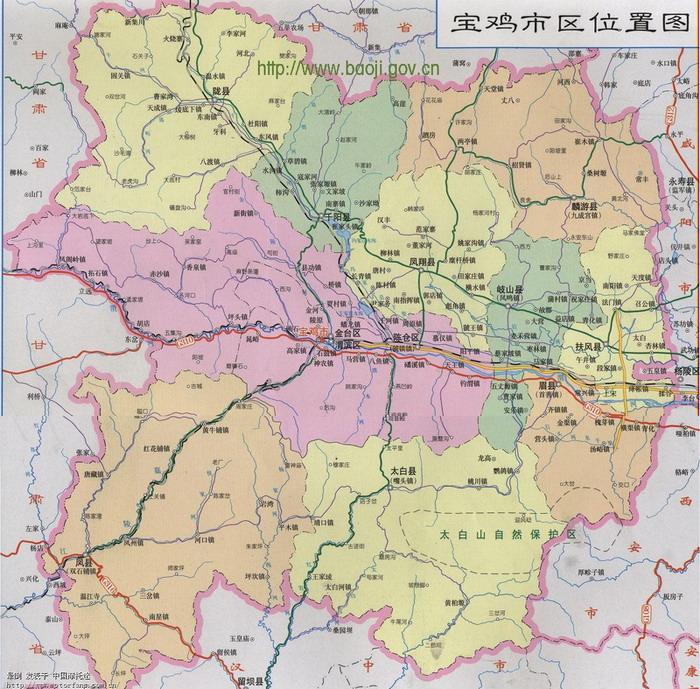 宝鸡地图 - 陕西摩友交流区