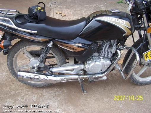 济南铃木摩托车专区 轻骑铃木GT125排气管的质量问题