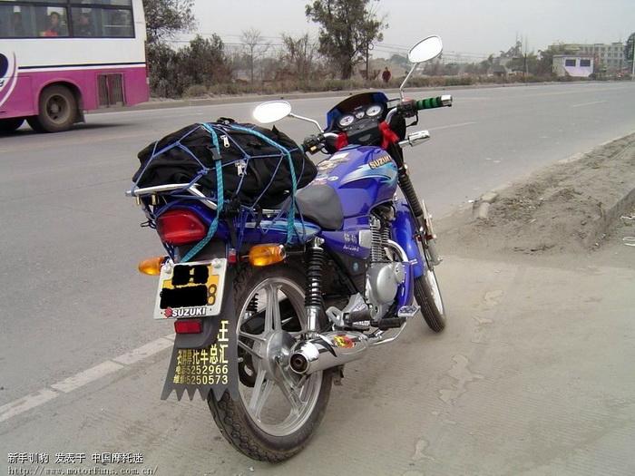 豪爵铃木摩托车专区 今天跑100的感觉