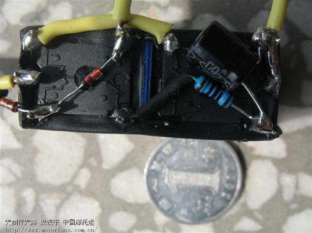 关于智能电路锁发动机的电路图 中国第一摩托车论坛 摩旅进行到底 -图片