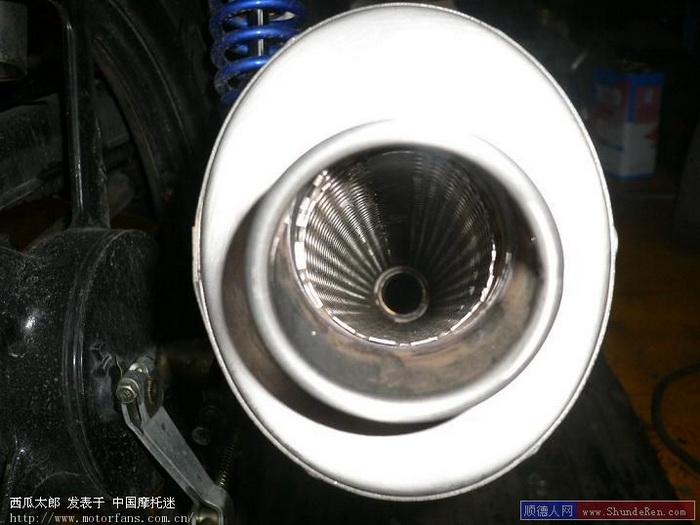 天剑125装仿天蝎排气管~~实现喷火图