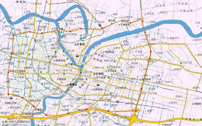 宁波手绘q版地图