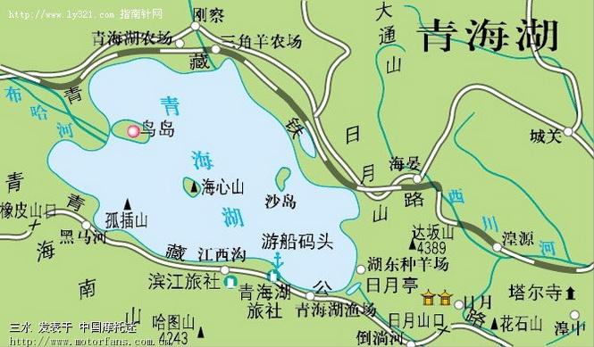 青海湖周边地图