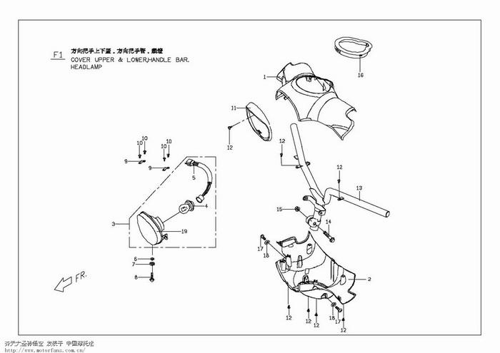 手绘汽车结构图解