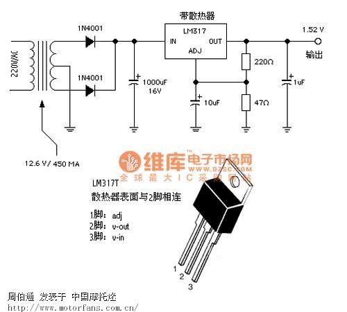 在使用317稳压块的输出电压计算公式计算其输出电压
