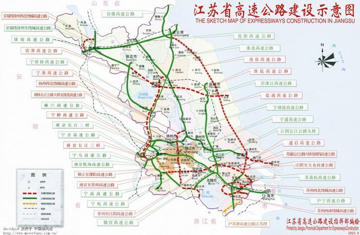 江苏省高速公路地图!