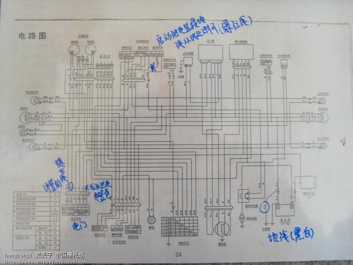 五羊本田125f电路图