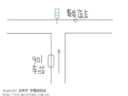 请问:丁字路口的红绿灯应如何通行?