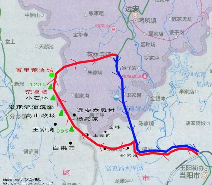 天门山景区游览路线图