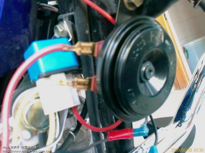 我新买的电装汽车喇叭和继电器高清图片