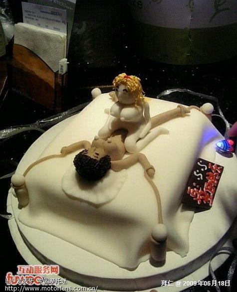 摩托车手绘蛋糕