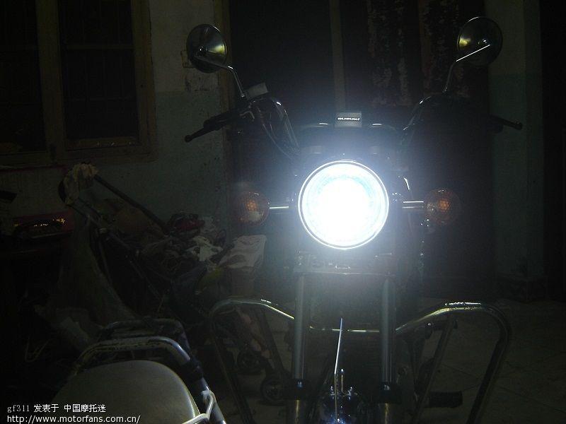 輕騎鈴木gm125換朗遠雙光透鏡 天使眼 惡魔眼實際效果圖