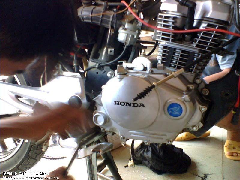 摩托车论坛 摩托车论坛 新大洲本田专区 cbf开膛破肚换环记 9月5日拆高清图片