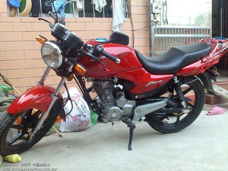 哈哈,把锐箭坐垫切低了 - 新大洲本田 - 摩托车论坛