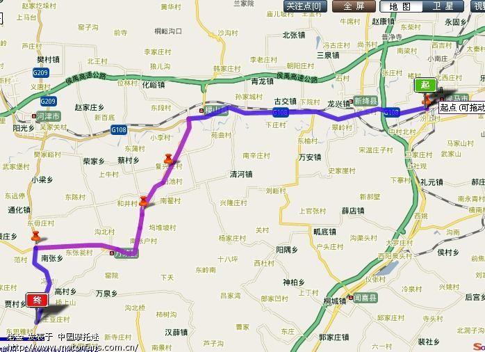 然后走108国道,到稷山县