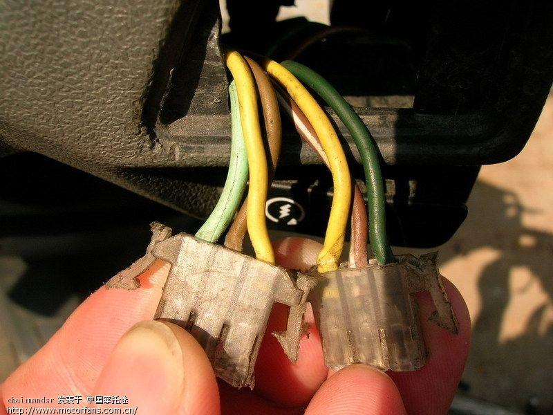 踏板车发动机电路接线图解