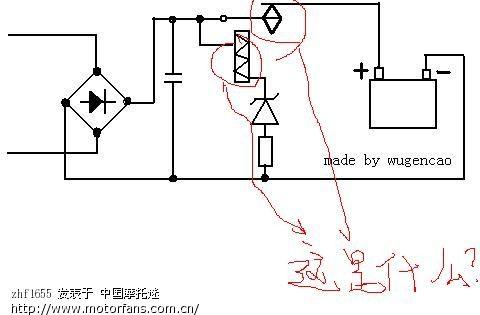 工作原理:当充电电压高于继电器线圈下方的稳压