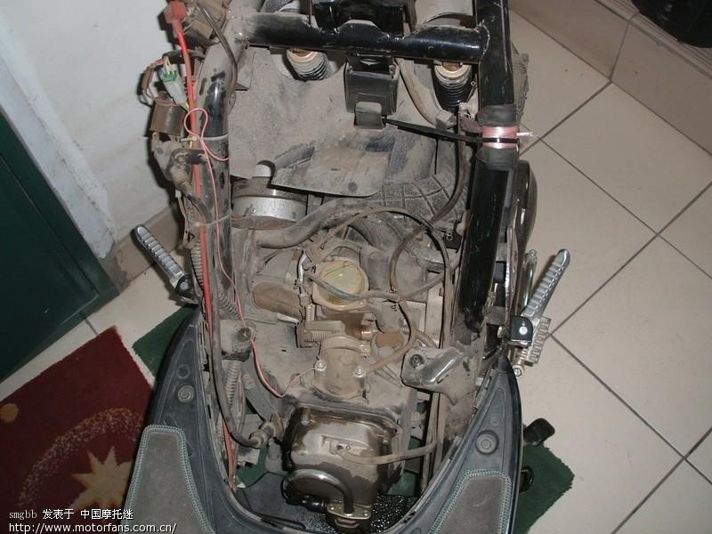 踏板车发动机前端有漏油