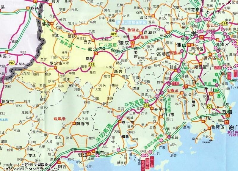 湛江到珠海线路地图