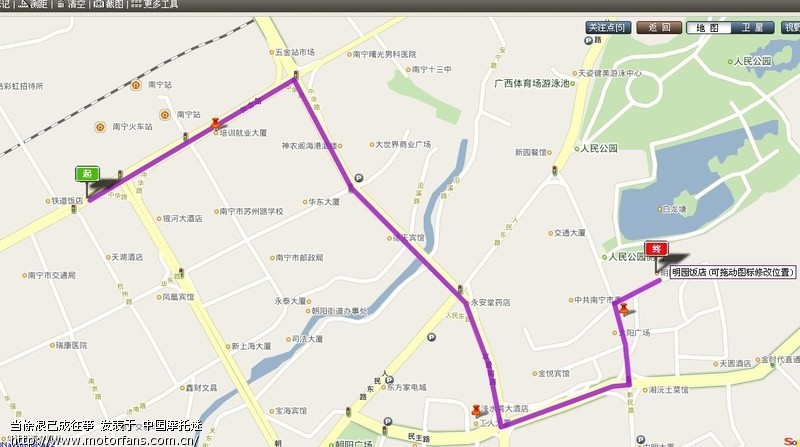 问路:南宁火车站到明园饭店怎么走.